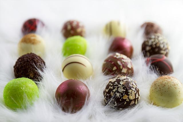 丸いチョコレート