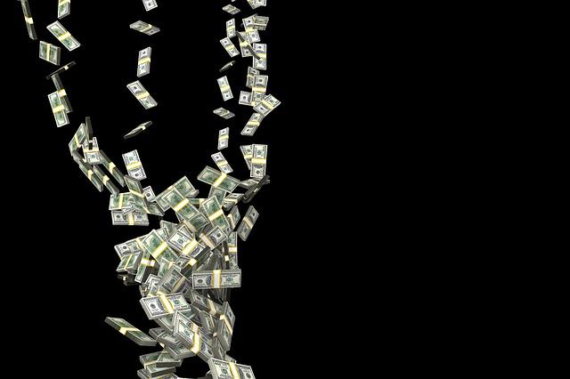 舞い散る紙幣