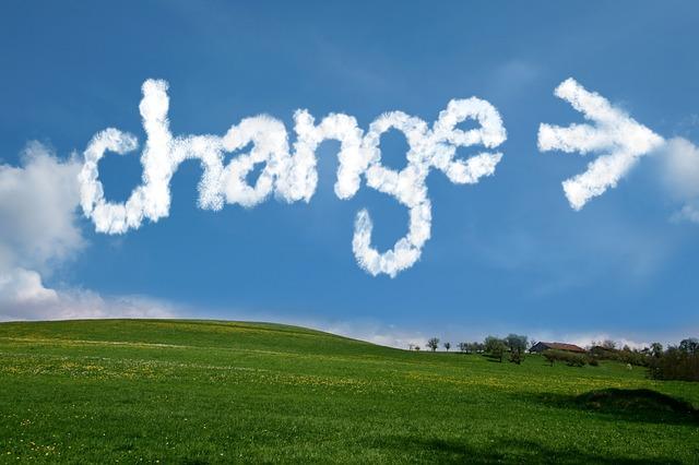 changeと矢印