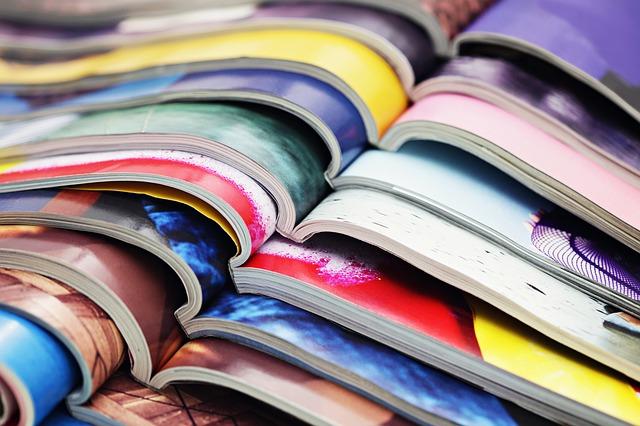 雑誌がたくさん