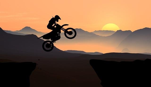 モータバイクのシルエット
