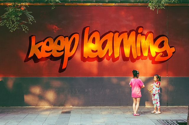 keep learningのストリートアート